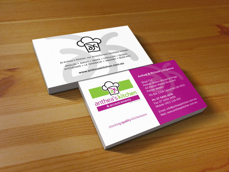 kitchen design business cards anthea s kitchen viva digital projects 855